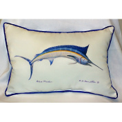 Betsy Drake HJ015 Blue Marlin Art Only Pillow 15x22