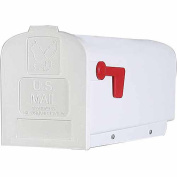 Solar Group Inc PL10W Plastic Rural White Mailbox