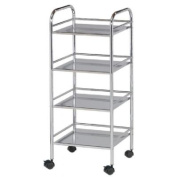 Alvin and Co. Storage Cart 80cm H 4 Shelf Shelving Unit