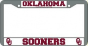 Oklahoma Sooners Official NCAA 30cm x 15cm Chrome Licence Plate Frame by Rico Industries