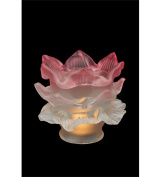 Meyda Tiffany 15666 Pink-White Tier Glass