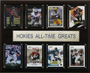 C & I Collectables 1215VTHOKATG NCAA Football Virginia Tech Hokies All-Time Greats Plaque