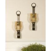 Uttermost 19311 Joselyn Small Wall Sconces Set of 2 - Iron-Glass