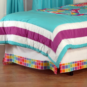 One Grace Place Terrific Tie Dye Twin Bedskirt