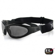 Zan Headgear GXR001 GXR Sunglasses Black Frame Smoke Anti-Fog Lens