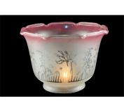 Meyda Tiffany 11056 17.8cm . W x 12.7cm . H Frost-Pink Ruffle Shade