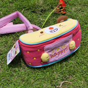 Blancho Bedding KT-K-154-HAPPY 7.1W x 3.1H x 2.8D Happy Cat Embroidered Applique Kids Fanny Waist Pack/Travel Lumbar Pack
