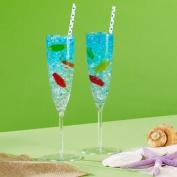 Amscan 209369 Clear Premium Plastic Champagne Flutes Box Set