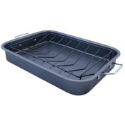 Premium Connexion 290-TRP KitchenWorthy Roasting Pan with V-Rack