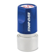 Stamp-Ever Pre-Inked Round Message Stamp, Sign Here, Stamp Impression Size