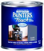 Rustoleum Half Pint Dark Grey Gloss Painters Touch Multipurpose Latex Paint 198