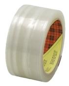 3M Industrial 405-021200-72368 Scotch Box Sealing Tape373 Clear 48Mm X50M