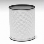Redmon R228WHSV Bath Jewellery Collection Round Wastebasket - White With Silver Lining