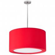 Dainolite JAS-193P-PC-927 3 Light Pendant with Red Lycra Shade