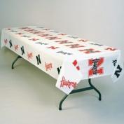 Caseys Distributing 7721854716 Nebraska Huskers Plastic Table Cover