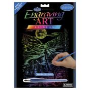 Rainbow Foil Engraving Art Kit 20cm x 25cm -Howling Wolves