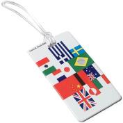 Lewis N Clark ID29 International Flag Luggage Tag