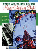 Alfred 00-17385 Basic Adult All-in-One Piano Course Merry Christmas Book- Level 1 - Music Book