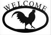 Village Wrought Iron WEL-232 Medium Pinecone Welcome Sign - Black