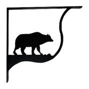 Village Wrought Iron SB-14-L Pair of Bear Shelf Brackets - Large