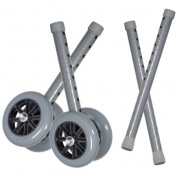 Drive Medical Heavy Duty Bariatric Walker Wheels with Extension Legs, Grey, 13cm