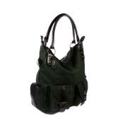 Blancho Bedding WS119-DARKGREEN Functional Lisa Dark Green Double Handle Front Bag Satchel Bag Handbag Purse