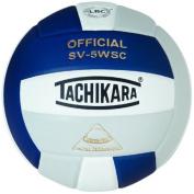 Tachikara SV5WSC.NWSL Sensi-Tec Composite High Performance Volleyball - Navy-White-Silver Grey