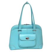 McKlien 96658 Avon 96658- Aqua Blue Leather Ladies Briefcase