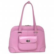 McKlien 96659 Avon 96659- Pink Leather Ladies Briefcase