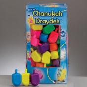Rite Lite DR-M Medium Plastic Chanukah Draydels - Assorted Colors