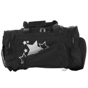Pizzazz Performance Wear B100 -BLK -L B100 Megaphone Duffle Bag - Black - Large