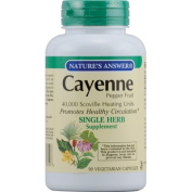 Natures Answer 0123596 Cayenne Pepper Fruit - 90 Vegetarian Capsules