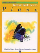 Alfred 00-2518 Basic Piano Course- Technic Book 3 - Music Book