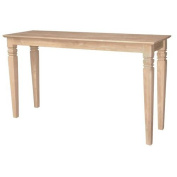 International Concepts Java Console or Sofa Table Unfinished