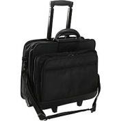 World Richman 8026-03 Rolling 17 Inch Laptop Briefcase - Black