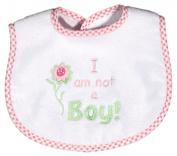 Dee Givens & Co-Raindrops 6811 I am not a Boy Small Bib - Pink