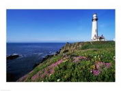PVT/Superstock SAL8054841C View of the Pigeon Point Lighthouse Pigeon Point Light Station State Historic Park California USA -24 x 18- Poster Print
