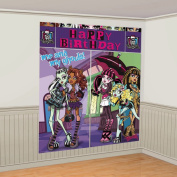 Amscan 220583 Monster High Wall Decorating Kit