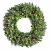 Vickerman A801024 24 in. Cheyenne Pine Wreath 10 Cones