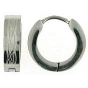 Doma Jewellery DJS00906 Stainless Steel Huggy Earring