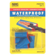 King Safety Products 62210 5 Count Blue and Red Waterproof Wire Connectors