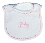 Dee Givens & Co-Raindrops 6200 Baby Embroidered Ex-Small Bib - Pink