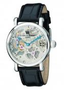 Charles-Hubert Paris 3887-B Mens Stainless Steel Skeleton Dial Mechanical Watch