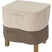 Classic Accessories Veranda Square Patio Ottoman/Side Table Cover - Durable and Water Resistant Patio Furniture Cover, Large