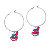Game Time Group 101515 MLB Cleveland Indians Hoop Earring