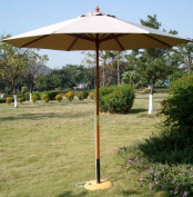 International Concepts 2.7m Market Umbrella with Wooden Pole in Natural