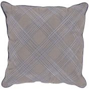 Surya P0007-1818P 18 in. x 18 in. Poly-Filler Decorative Pillow - Gray