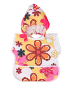 Somade MBFN-1 My Bibsie The Hooded Bib For Kids Flowers 6 Months and Up