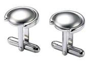 Visol VCUFF604 Presley Stainless Steel Circular Cufflinks