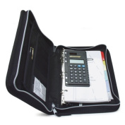RoadPro ORGZBK Deluxe Organizer with Log Book Holder & Slide Rule - Black Zippered 8.5x11.25